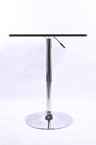 """Bistro-Tisch, schwarz, quadratische Holzplatte, höhenverstellbar 84-104 cm -\""""Stuttgart\"""""""
