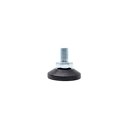 Screw-in Levelling Machine & Furniture Feet Height Adjustable with Tilting Base (38mm Diameter Base, M10x16mm, Pack of 4) [Please See 2nd Image for Dimensions] Made in Germany
