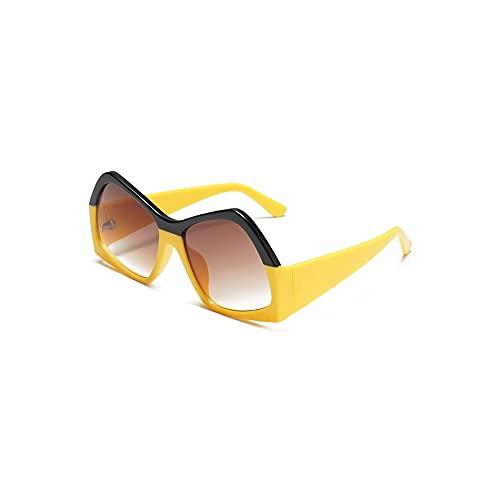 YUZHUKKKPYZ NSMJ - Gafas de sol polarizadas para hombre, forma irregular, montura grande, para gafas de sol de hombre, gafas de sol ligeras