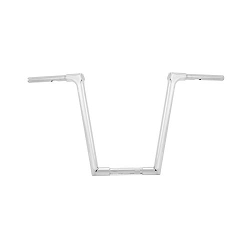 WSays Chrome 14' Fused Ape Hanger Handlebar Compatible with most Harley Dyna Softail Sportster XL 883 1200 & 1994-2021 Road King Model & 1998-2013 Road Glide