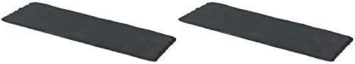 Novaliv 2X Schieferplatten I rechteckig I 40x15x0,5 cm I Schiefer Platten Schieferteller Servierteller Servierplatten Schiefer Teller Set