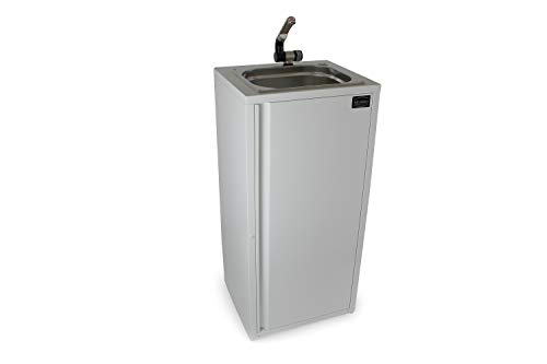 Mobiles Handwaschbecken Waschbecken Marktstand Verkaufsstand Food Truck Marktstand Kirmes Weiß (ad-ideen)