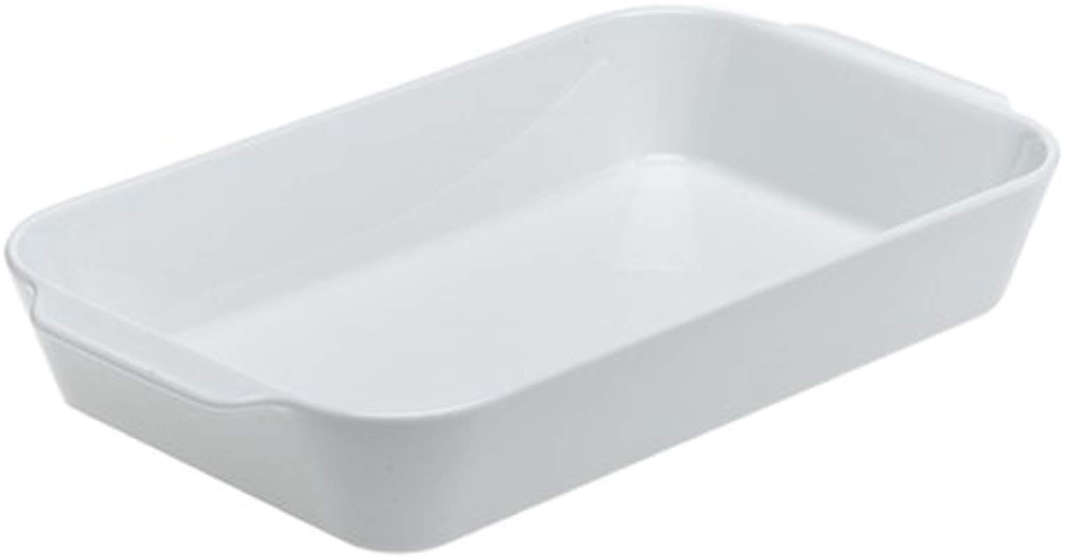 Pillivuyt Porcelain Extra Deep Rectangular Roaster With Ears Extra Large 15 By 10 By 3 Inch