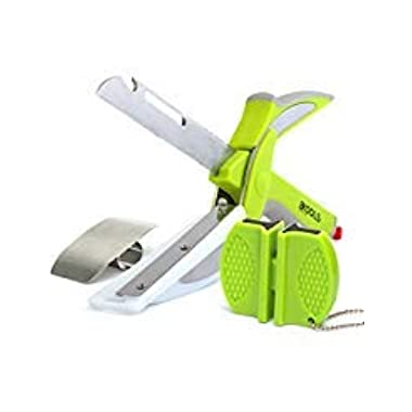 kools Clever 8-in-1 Food Chopper Set - with Chopping Board and Detachable Knife, Ideal as Vegetable and Meat Chopper or Slicer, Bottle Opener, Peeler, including Sharpener and Finger Guard