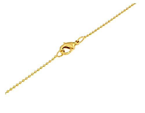 TENDENZE Collar Cadena pelota 18k oro doublé 1,5mm longitud seleccionable directamente desde la fábrica italiana para mujer y hombre