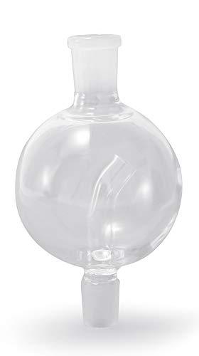 WowoHK Molassefänger Glas Passt auf alle Shishas mit 18/8 Schliff, 100% Durchzug und saubere Wasserpfeife, Shisha Zubehör (B)
