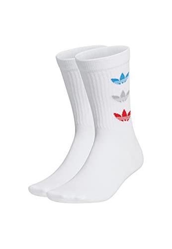 adidas GN4912 TRI THN RBD CRW Socks unisex-adult white L