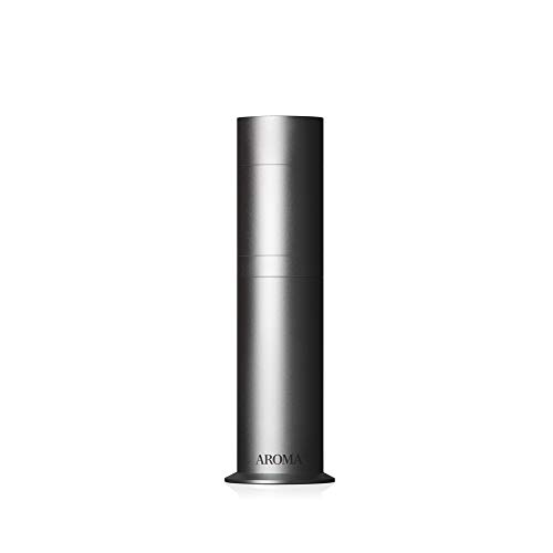 AromaTech AroMini Aluminum Essential Oil Diffuser for Aromatherapy Oils, Nebulizing Technology, Cold-Air Diffusion Scent Machine (Silver)