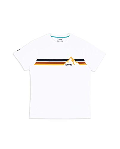 KIMOA Camiseta Whistler Blanca Negro, Unisex Adulto, L