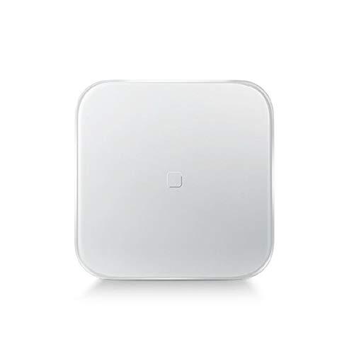 LLRDIAN Básculas de baño de Peso Digital de Alta precisión con tecnología Paso a Paso, Que Incluyen Cinta de medición volumétrica, 28st / 180kg / 400lb, Pantalla retroiluminada