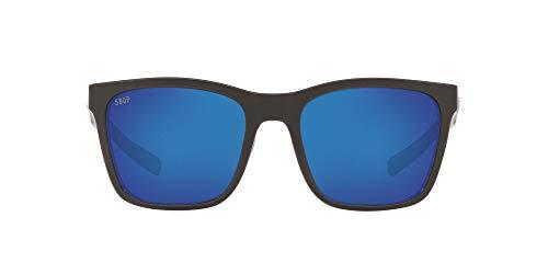 Costa Del Mar Women s Panga Square Sunglasses, Ocearch Shiny White Blue Mirrored Polarized 580P, 56 mm