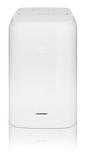 Klimaanlage mobil BLAUPUNKT Moby Blue S1111T WIFI, portables Klimagerät Kühlen 3,2kW, Heizen 2,9kW, Entfeuchten 1,2l/h, Lüften, Abluftschlauch, leise, für Räume bis 30m2, Plug & Play, Sprachsteuerung