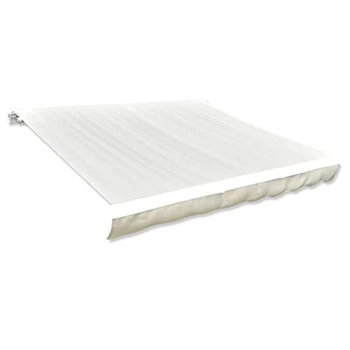 vidaXL Markisenstoff Sonnenschutz Markisentuch Cremefarben 4×3 m (ohne Rahmen)