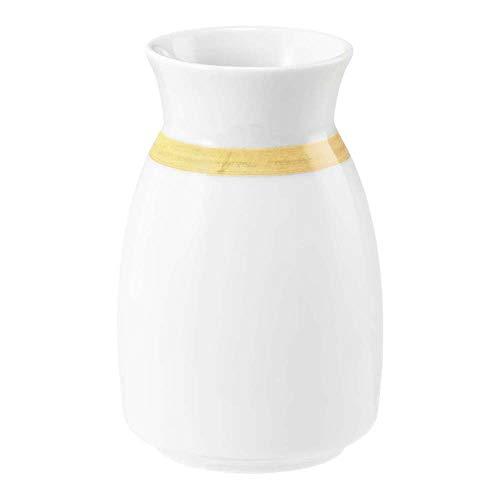 Seltmann 001.744357 Community porseleinen vaas, rond, geel, 57392 pennenband oker met kleurrand decor, 6,7 cm diameter, 10,3 cm hoogte