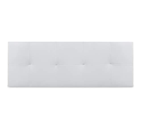 Dormidan- Cabecero Venecia en Polipiel con Acolchado capitoné, 150x52cm (Cama 150, Blanco) …