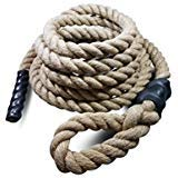 GSM Brands Sisal Gym Climbing Rope for Fitness and Strength Training (25 Feet Long x 1.5 Inches Diameter)