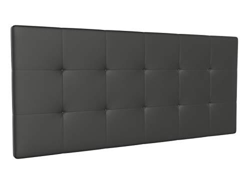 LA WEB DEL COLCHON - Cabecero tapizado Corfú para Cama de 135 (145 x 70 cms) Gris Ceniza