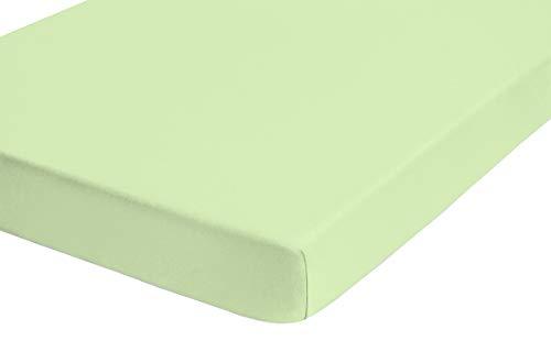biberna 0012344 Frottee-Stretch Spannbetttuch (Matratzenhöhe max. 22 cm) (Baumwolle/Polyester) 180x200 cm -> 200x200cm, türkis (capri)