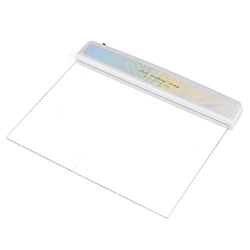Hyuduo Panel LED Luz de Libro Lámpara de Lectura Plana portátil Luz de protección Ocular Lámpara de Lectura de Cama Nocturna, Lector de una página Transparente para Cama de automóvil(Tipo 3)