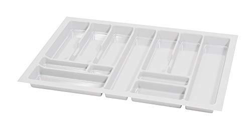 Alusfera Besteckkasten fur Schubladen 80 Besteckeinsatz für Schubladen 730 x 490 mm Besteck Schubladeneinsatz Schubladen Organizer Küche Weiss