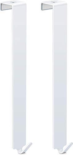 relibo Flipchart Türhaken - platzsparende & mobile Alternative zum Flipchart Ständer | intelligente Lösung zum Aufhängen von Flipchart-Papier | Extralange Haken für ergonomischeres Arbeiten, Weiß (2x)
