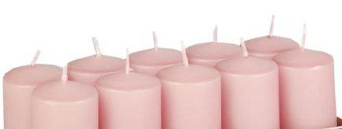 10 Stumpenkerzen Ø 40 mm 90 mm rosa... Brenndauer: ca. 9 Stunden