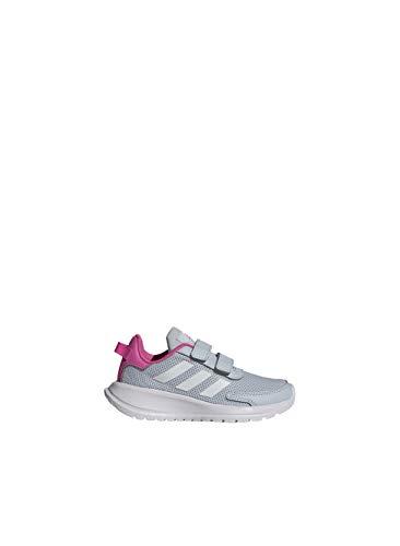 adidas TENSAUR Run C Shoe, Halo Blue FTWR White Screaming Pink, 2 UK