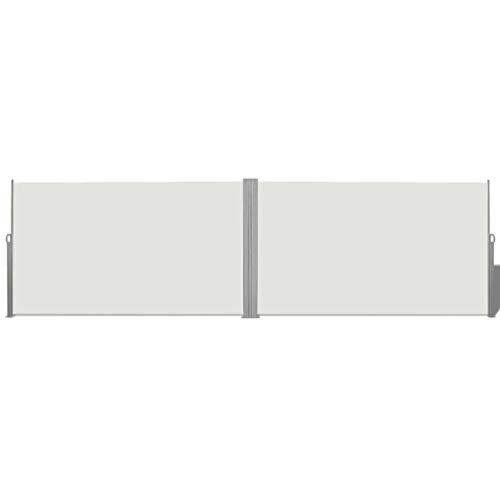 vidaXL Seitenmarkise Creme Sichtschutz Windschutz Sonnenschutz Seitenrollo