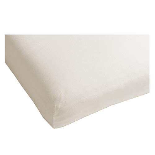 Heckett Lane Uni Satijn Hoeslaken Topper 90x200+12 cm - Off-White