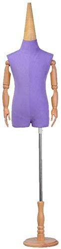 LILIS Maniqui Costura Torso Femenino del maniquí del Cuerpo del niño Modelo Puntales Torso Humano con Altura Ajustable del Estudiante de la Manera Forma del Arte del Hierro (Color : Purple)