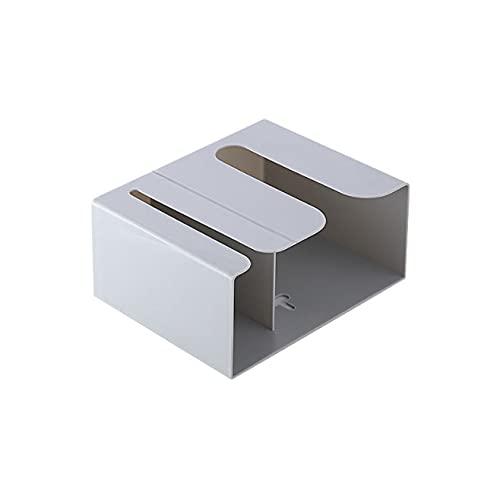 Seneng Caja de pañuelos Estante Puñetazo libre Montado en la pared Soporte de papel higiénico Soporte de toalla de papel impermeable Caja de almacenamiento de pañuelos (gris)