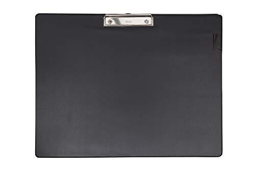 Maul Schreibplatte mit Folienüberzug, Klemmbrett, DIN A3 quer, 8 mm Klemmweite, Schwarz