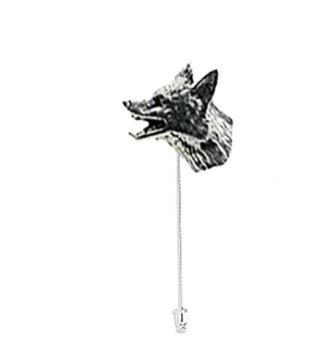 A11 pequeña cabeza de zorro fino peltre inglés con diseño en un...