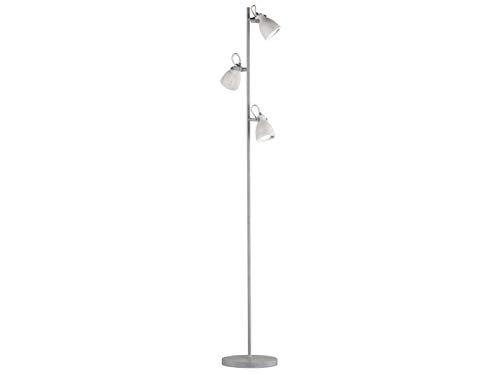 Retro vloerlamp met draaibare lampenkappen van beton & GU10 leds - leeslamp, standverlichting in industriële look
