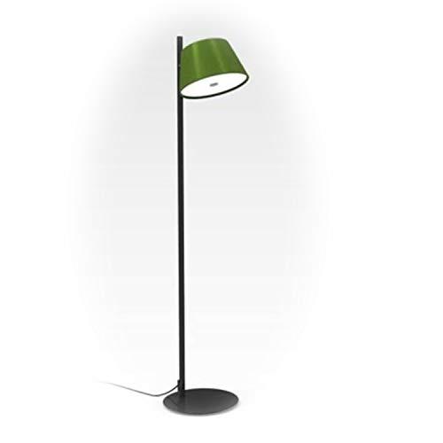Lámpara de pie 1 x 46W E14 con Estructura de Metal Lacado y Pantalla de Aluminio, Modelo Tam Tam satel Mini P, Color Verde, 24 x 24 x 116 centímetros (Referencia: A633-020 45)