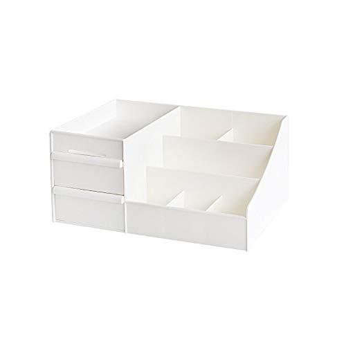 Estuche de almacenamiento de artículos varios de plástico gaveta de almacenamiento de cosmética caja de maquillaje Tocador Cuidado de la Piel Casa Organizador de contenedores Inicio de escritorio