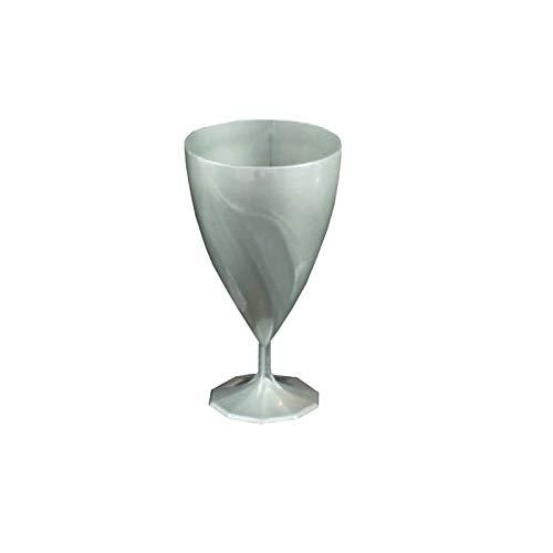 12 copas de agua plástico desechables, color plateado-Adiserve -