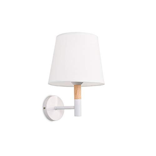 LXMBHDB Lámpara para mesita de noche, moderna lámpara de pared, sencilla lámpara de pared de escalera, creativa lámpara de pared de salón, pared de TV, dormitorio de estudio, lámpara de pared blanco