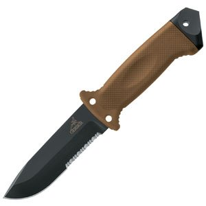 Gerber 1400 LMF II ASEK, Tan Handle, Combo Edge, nailon sheath
