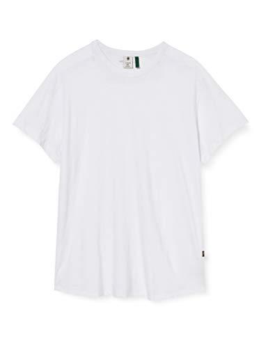 G-STAR RAW Herren T-Shirt Baseball Straight, White C372-110, X-Small