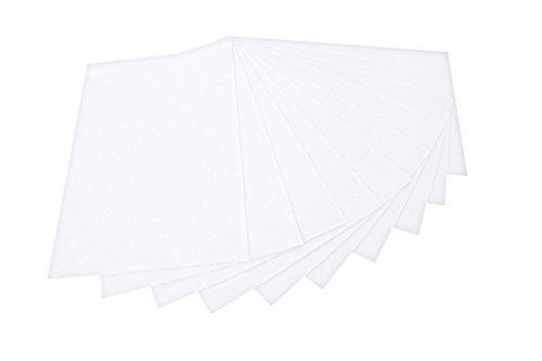 folia 520400 - Bastelfilz, mit feiner Wollqualität, 10 Blatt, 150 g/qm, 20 x 30 cm, weiß, klebefleckenfreie Verarbeitung - ideal für vielfältige Bastelarbeiten