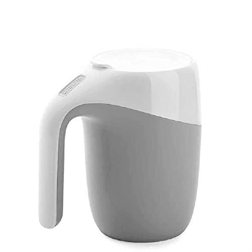 Thermos Cup, 400ml Magic Sucker Mug Non Versando Tazza Tazza Tazza Tazza da Ufficio Tazza Thermos Vacuum Tazza con Copertina Tazza d'Acqua Tazza Tazza da caffè Bottiglia d'Acqua (Color : White)