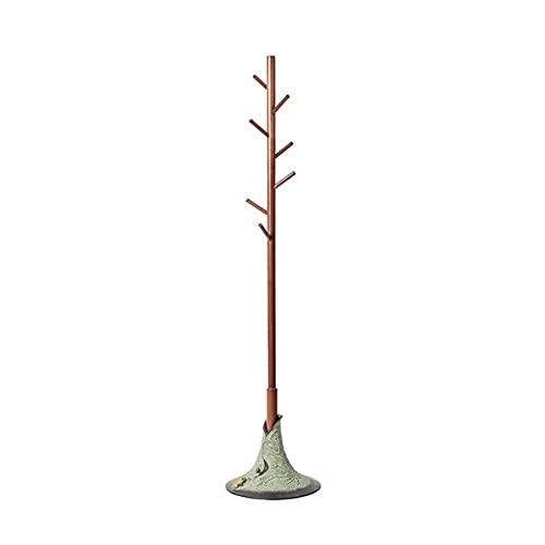 Soporte de resina de madera sólida de perchero - Muebles de la entrada de la entrada del árbol de la sala de vestíbulo mejor para colgar la chaqueta, el bolso, la bolsa de mano, el paño ( Color : A )