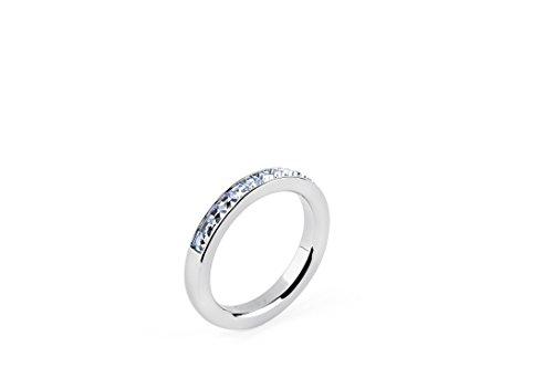 Brosway - LIBERTA' - Anello TRING mis.14 acciaio e swarovski light sapphire BTGC53B