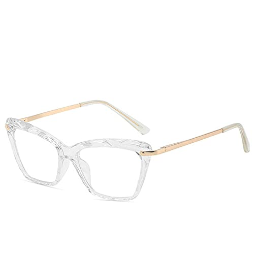 Powzz ornament Vintage transparente ojo de gato gafas de cristal montura para mujer Retro negro marco de metal gafas cuadradas UV400 Oculos De Grau Feminino-6_Universal