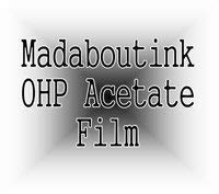 A3 OHP Acetato Transparency Film per stampanti laser e copiatrici 50 fogli