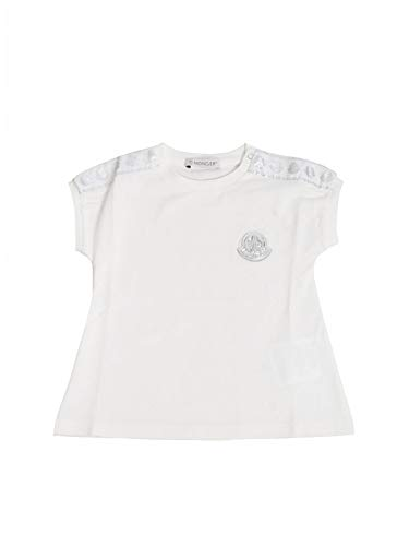 Moncler Luxury Fashion Baby 8C703108790A034 Weiss Baumwolle T-Shirt | Frühling Sommer 20