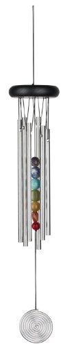 Woodstock Windspiel Chakra Chime, Silber, 46,9 cm
