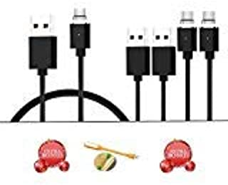 CoolKo Newest Version of Strongest 1Meter Magnetic Black Braided USB-C Charging Cable for Samsung Galaxy S8 Plus Google Pi...