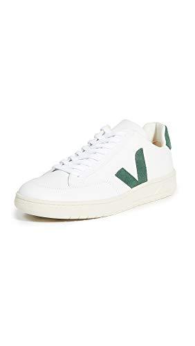 Veja Herren V-12 Leder Sneaker, Gr�n (Extra Weiß/Zypern.), 41 EU